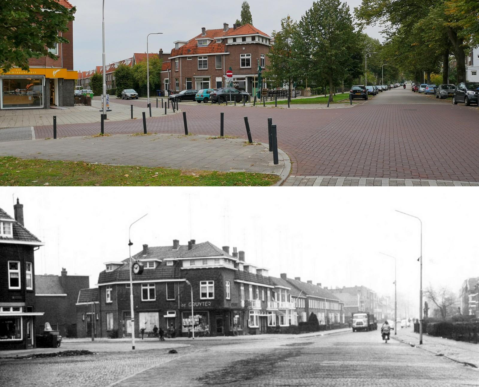Vroeger en nu: Voorstadslaan